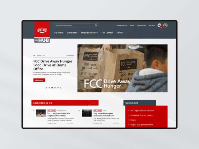 FCL Hub tablet webpage