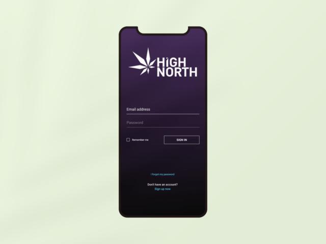 High North mobile login webpage