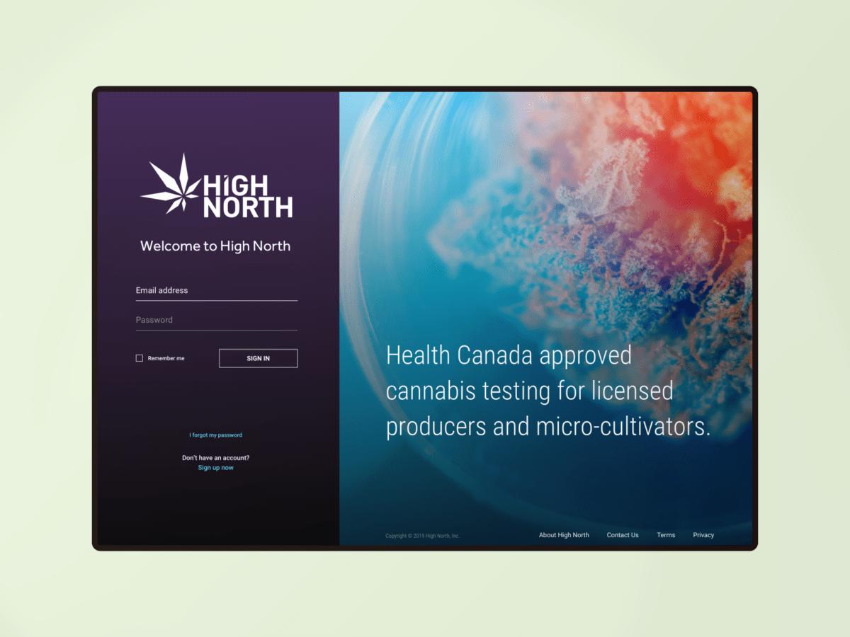 High North login webpage