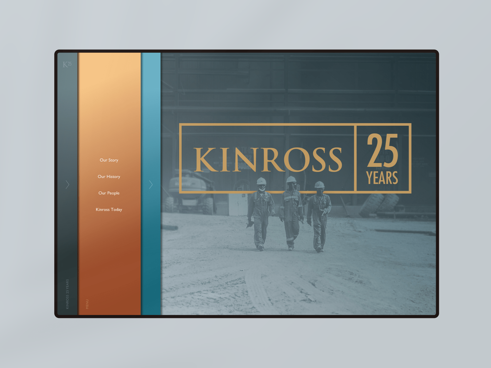 Kinross 25th Anniversary homepage