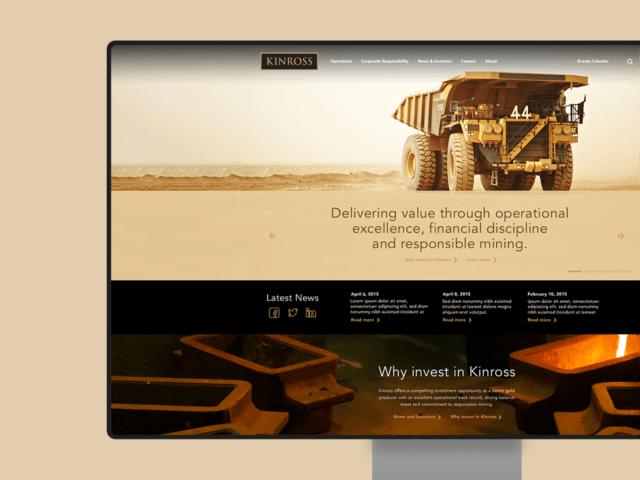 Kinross.com website