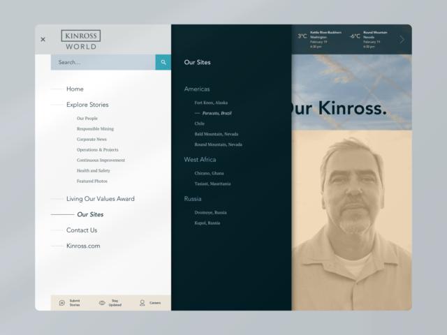 Kinross World navigation