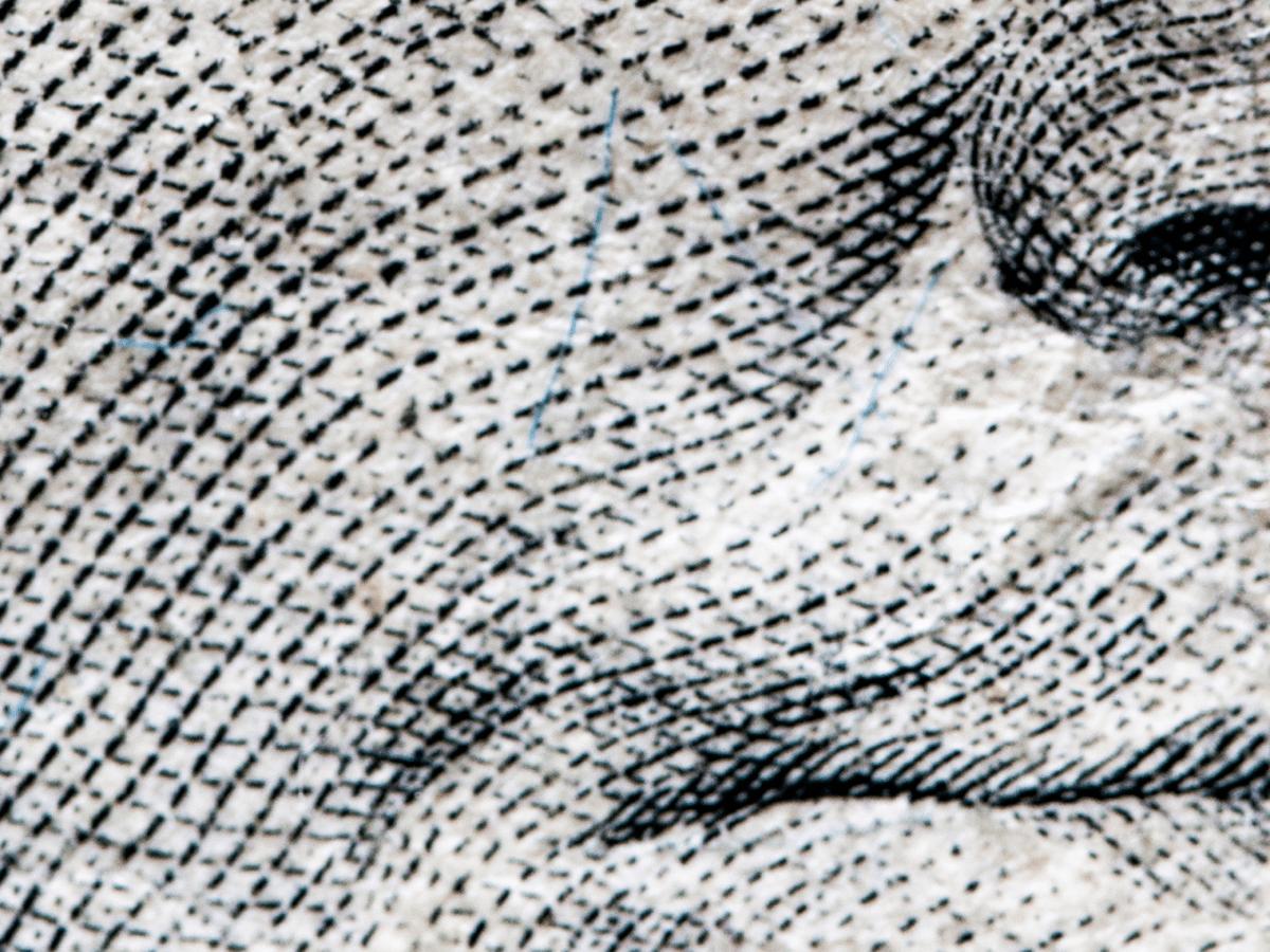 Close up of banknotes